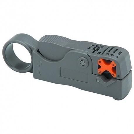 Pinza pela cable doble corte ajustable, Para Cable Coaxial RG6 RG59